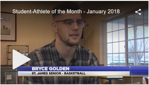 Bryce Golden '18 Named WDVM Student-Athlete of the Month