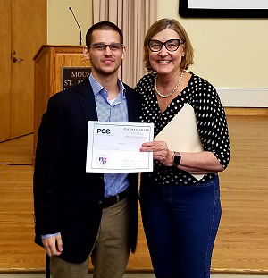 Levi Schindel '16 Wins Entrepreneurship Idea Pitch Invitational at Mount St. Mary's
