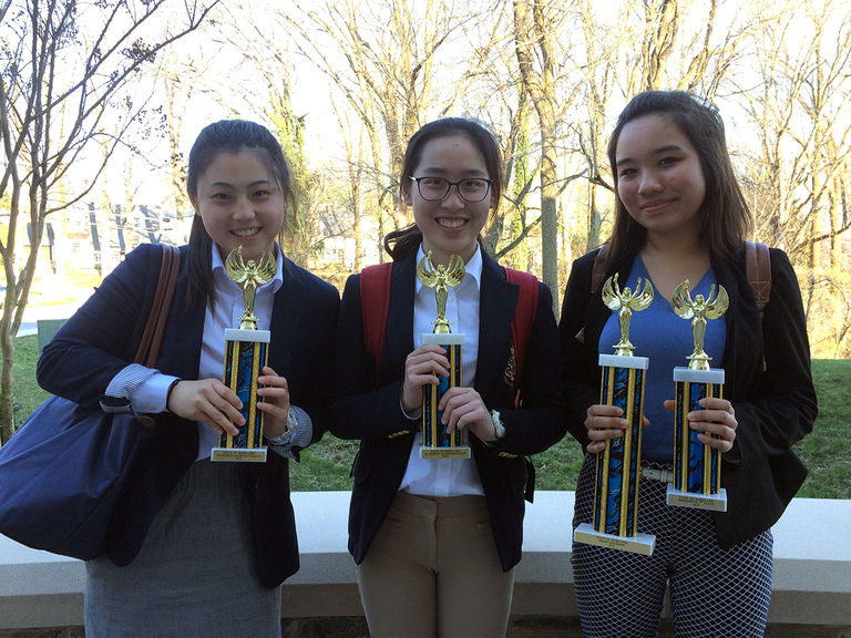 Three SJS Students Compete at State of Maryland Speech and Debate Association Championship