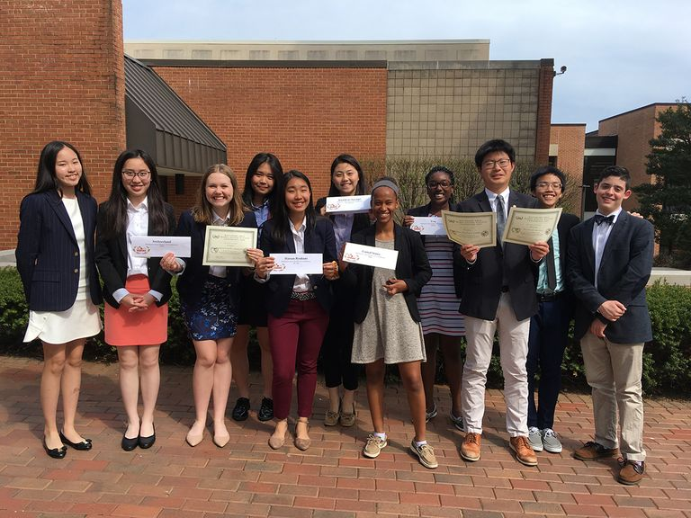 SJSMUN Members Receive Awards at Baltimore Area Model United Nations Conference
