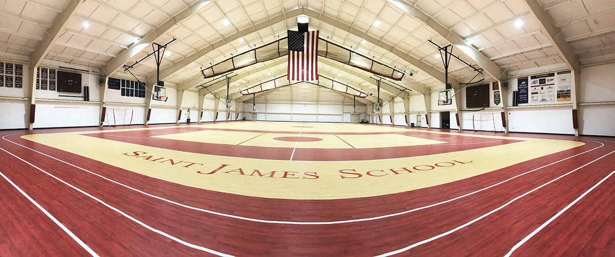 New Sports Flooring Installed in Alumni Hall