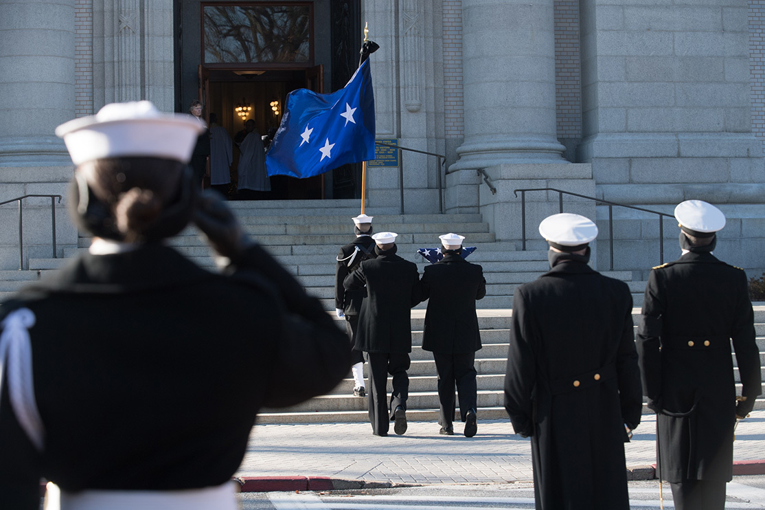 Admiral James L. Holloway, III '39 Laid to Rest at Naval Academy