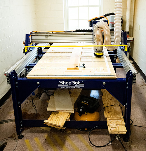 ShopBot CNC router in the Saint James School FAB Lab
