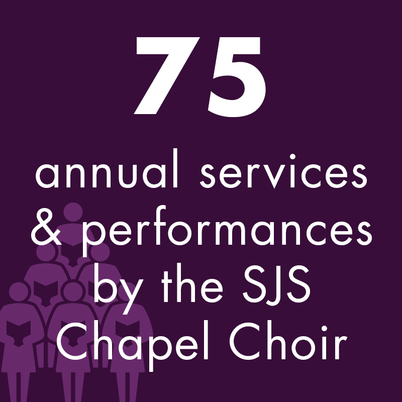 75 annual services and performances by the SJS Chapel Choir