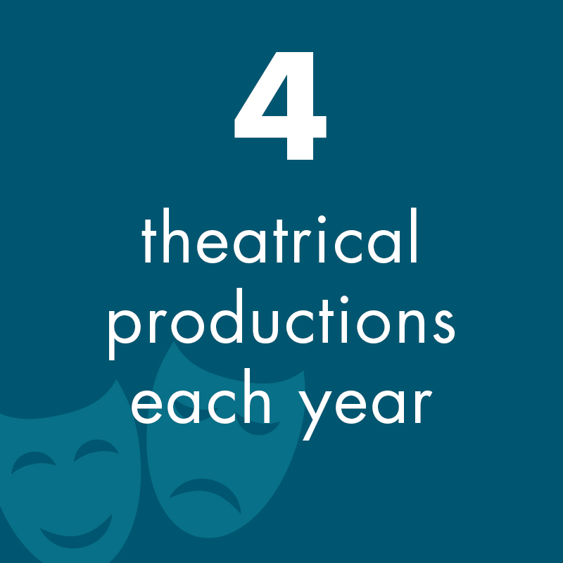 4 theatrical productions each year