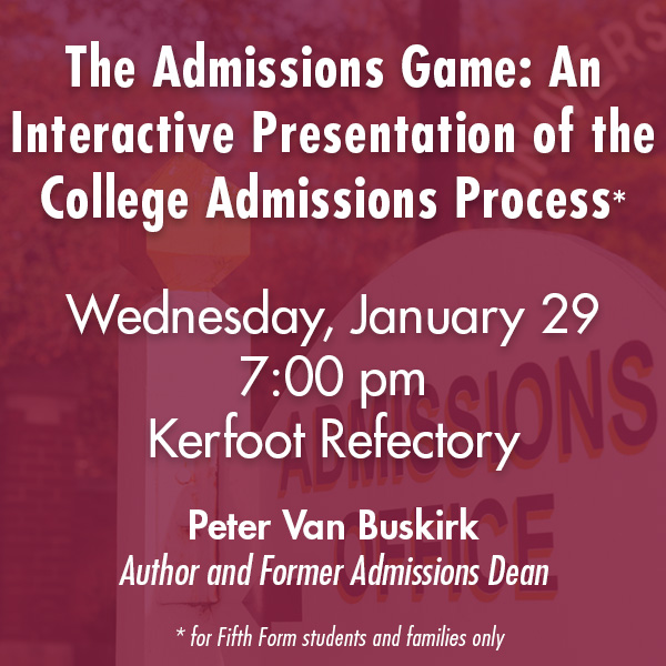 The Admissions Game: An Interactive Presentation of the College Admissions Process
