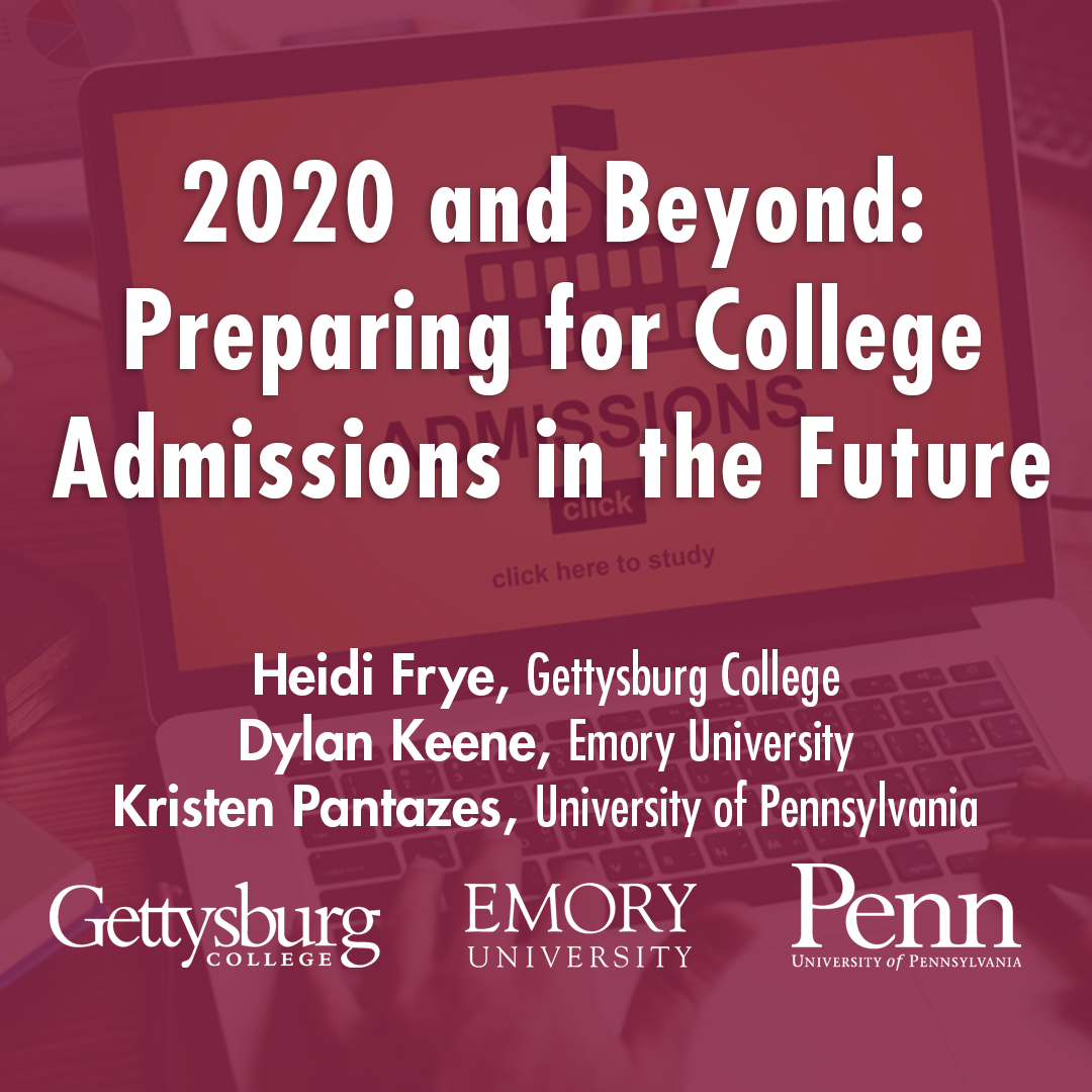 Saint James School College Admission Series - 2020 and Beyond: Preparing for College Admissions in the Future